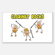 Clarinet Rocks Rectangle Decal