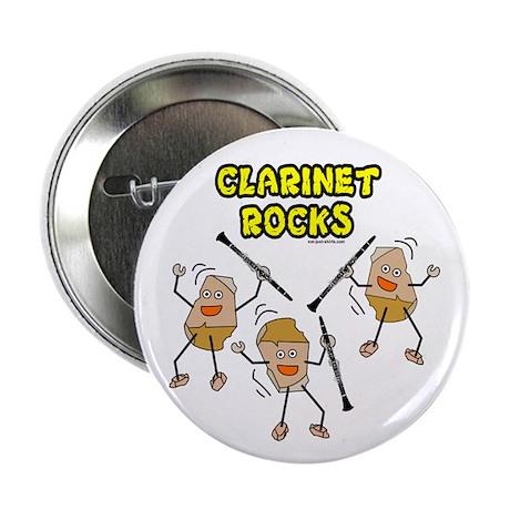 "Clarinet Rocks 2.25"" Button (10 pack)"
