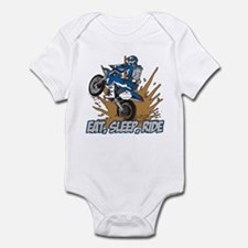 Eat, Sleep, Ride Motocross Infant Bodysuit