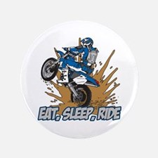 "Eat, Sleep, Ride Motocross 3.5"" Button"