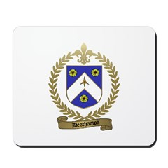 DESCHAMPS Family Crest Mousepad