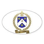 DESCHAMPS Family Crest Oval Sticker