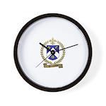 DESCHAMPS Family Crest Wall Clock