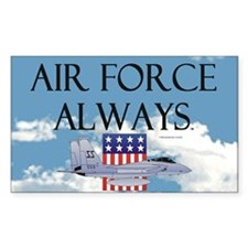Air Force Always Rectangle Decal
