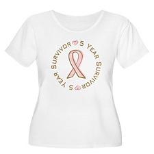 5 Year Breast Cancer Survivor T-Shirt