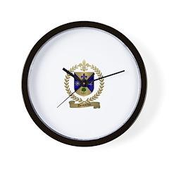 DESJARDIN Family Crest Wall Clock