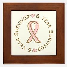 6 Year Breast Cancer Survivor Framed Tile
