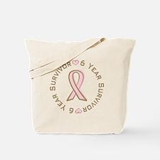 6 Year Breast Cancer Survivor Tote Bag
