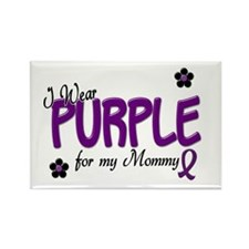 I Wear Purple For My Mommy 14 Rectangle Magnet