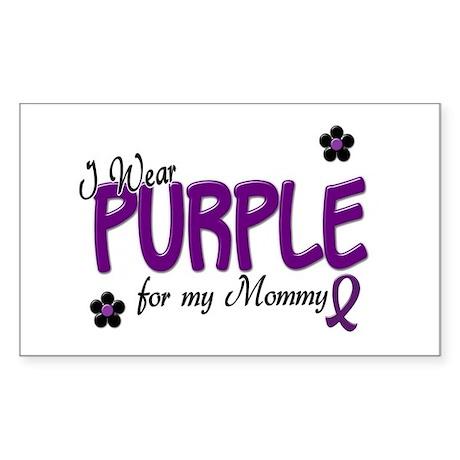 I Wear Purple For My Mommy 14 Rectangle Sticker
