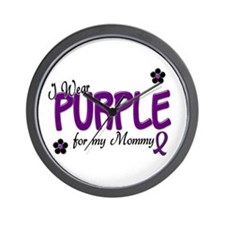 I Wear Purple For My Mommy 14 Wall Clock
