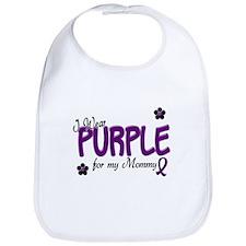 I Wear Purple For My Mommy 14 Bib