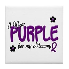 I Wear Purple For My Mommy 14 Tile Coaster