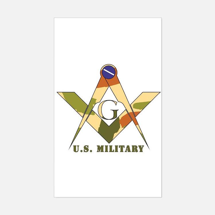 Military Free Mason Rectangle Decal