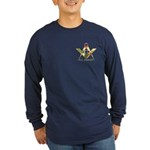 Military Free Mason Long Sleeve Dark T-Shirt