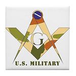 Military Free Mason Tile Coaster