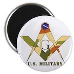 Military Free Mason Magnet