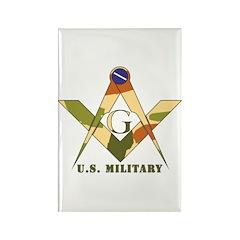 Military Free Mason Rectangle Magnet