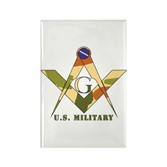 Military Free Mason Rectangle Magnet (100 pack)