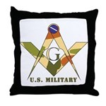 Military Free Mason Throw Pillow