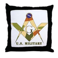 Military Free Mason Throw Pillow
