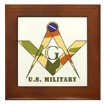 Military Free Mason Framed Tile