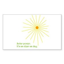 Solar Power Rectangle Decal