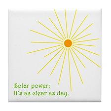 Solar Power Tile Coaster