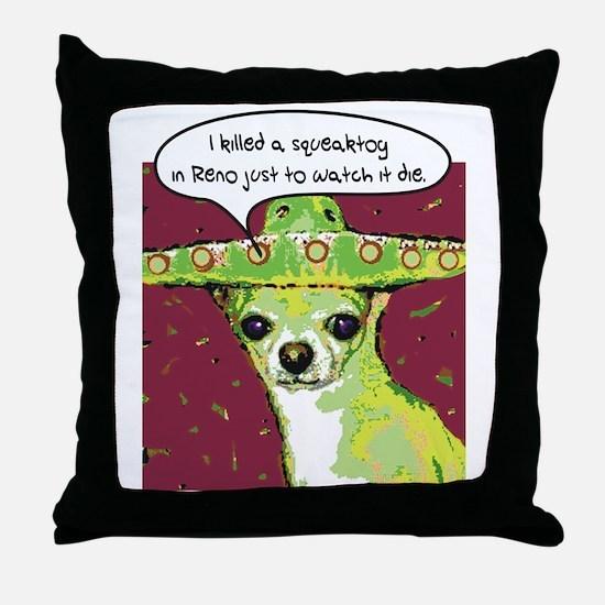 Killer Chihuahua Throw Pillow