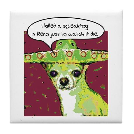 Killer Chihuahua Tile Coaster