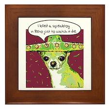 Killer Chihuahua Framed Tile