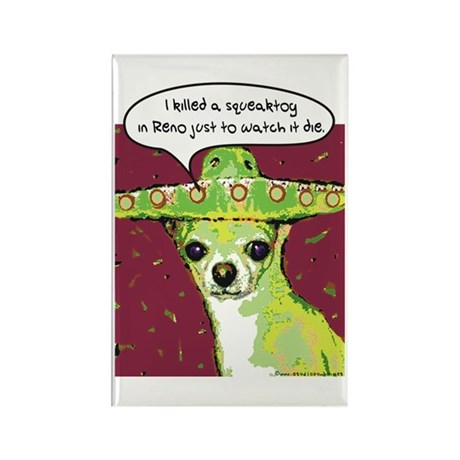 Killer Chihuahua Rectangle Magnet (100 pack)