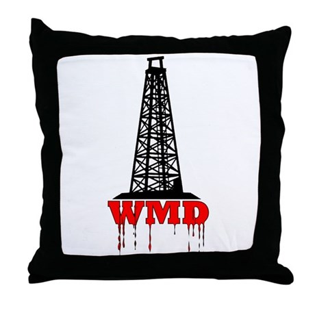No Blood for Oil, WMD Throw Pillow