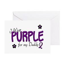 I Wear Purple For My Daddy 14 Greeting Card