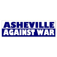 Asheville Against War (bumper sticker)