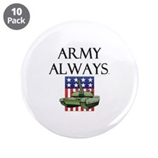 """Army Always 3.5"""" Button (10 pack)"""