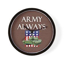 Army Always Wall Clock