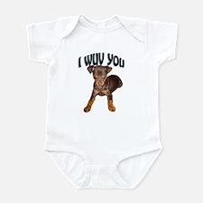minpin puppy Infant Bodysuit