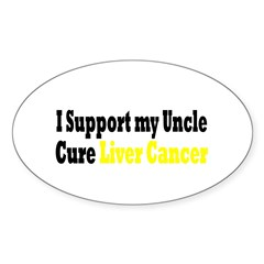 Liver Cancer Oval Decal