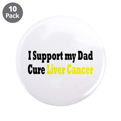 "Liver Cancer 3.5"" Button (10 pack)"