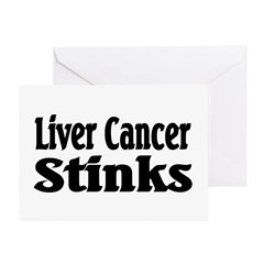 Liver Cancer Greeting Card
