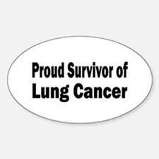 Lung Cancer Oval Decal
