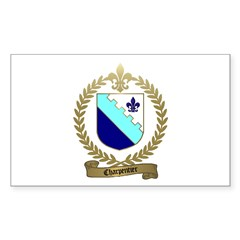CHARPENTIER Family Crest Rectangle Decal