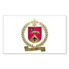 CHARTIER Family Crest Rectangle Decal