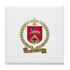 CHARTIER Family Crest Tile Coaster