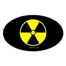 Nuclear Sign Oval Decal