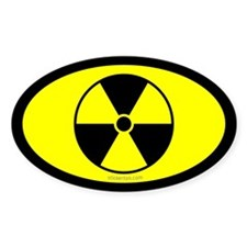 Yellow Nuclear Sign Oval Decal