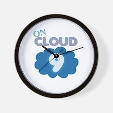 On Cloud Nine Wall Clock