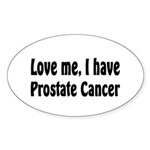 Prostate Cancer Oval Sticker (10 pk)
