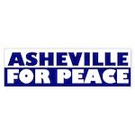 Asheville for Peace (bumper sticker)